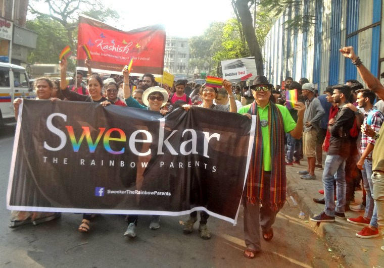 Sweekar: The Rainbow Parents participate in the 2018 Mumbai Pride March