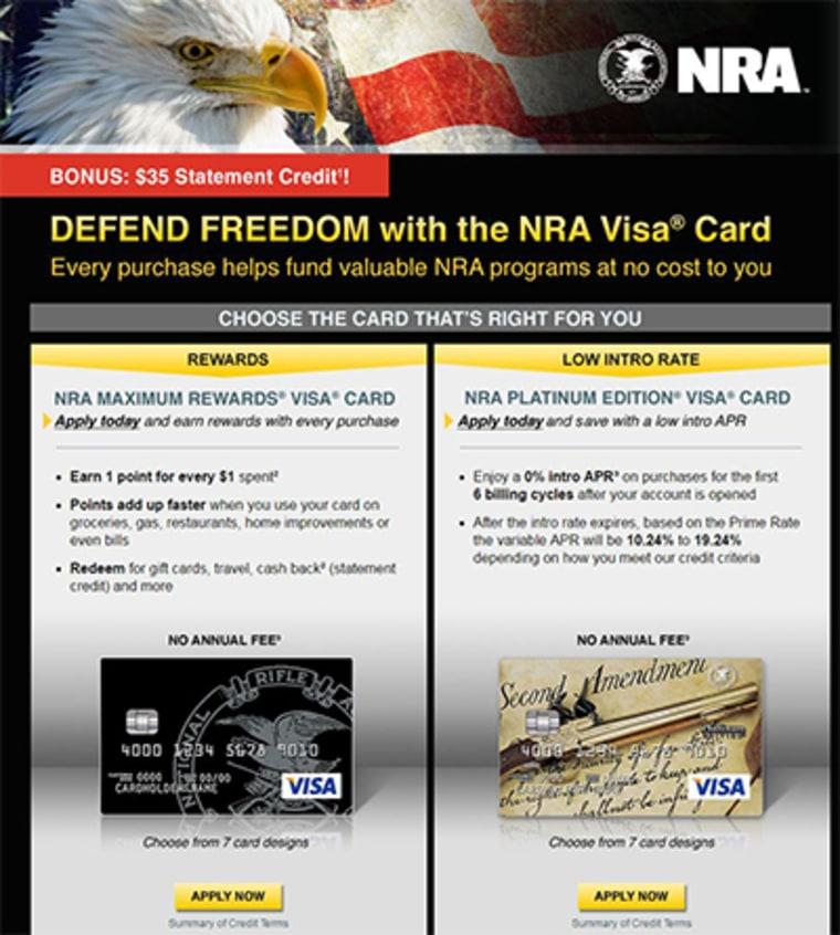 NRA Visa card