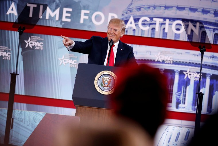 Image: Trump speaks at the Conservative Political Action Conference at National Harbor, Maryland