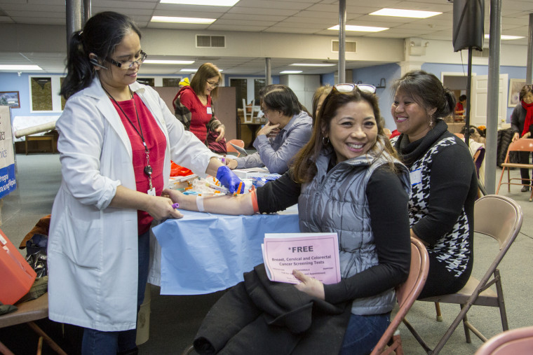The Filipino Medical Program at Holy Name Medical Center hosted a health fair at Holy Trinity Church in Hackensack, New Jersey, on Feb. 14, 2016.