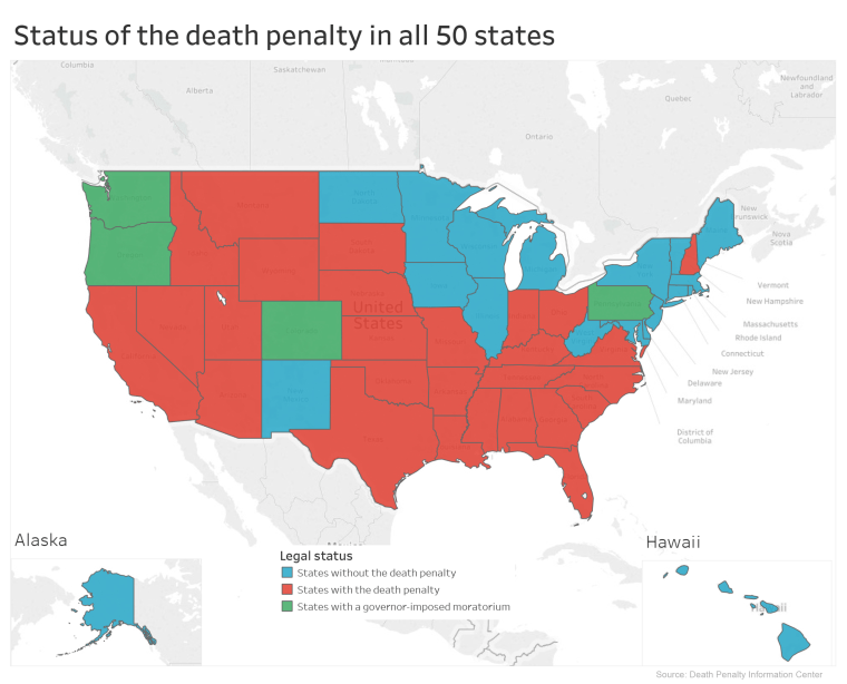 Image: Status of death penalty in all 50 states
