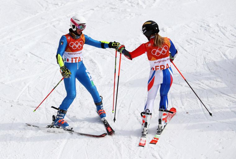 Image: Alpine Skiing - Winter Olympics Day 15