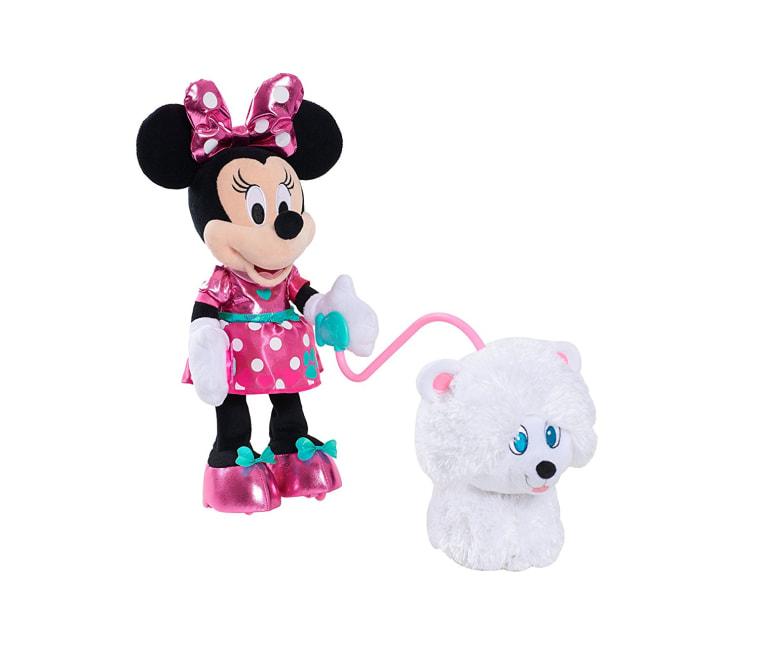 Minnie play with dog toy