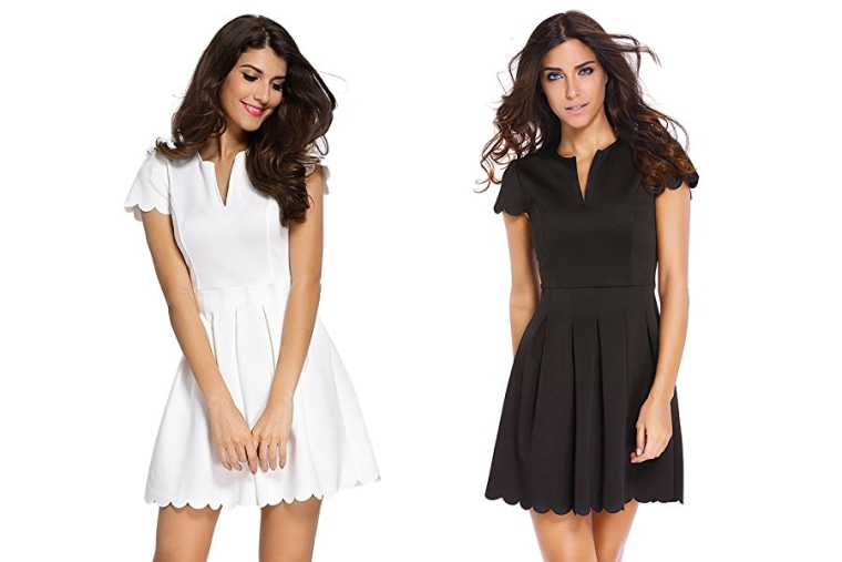 Sidefeel dress in white and black