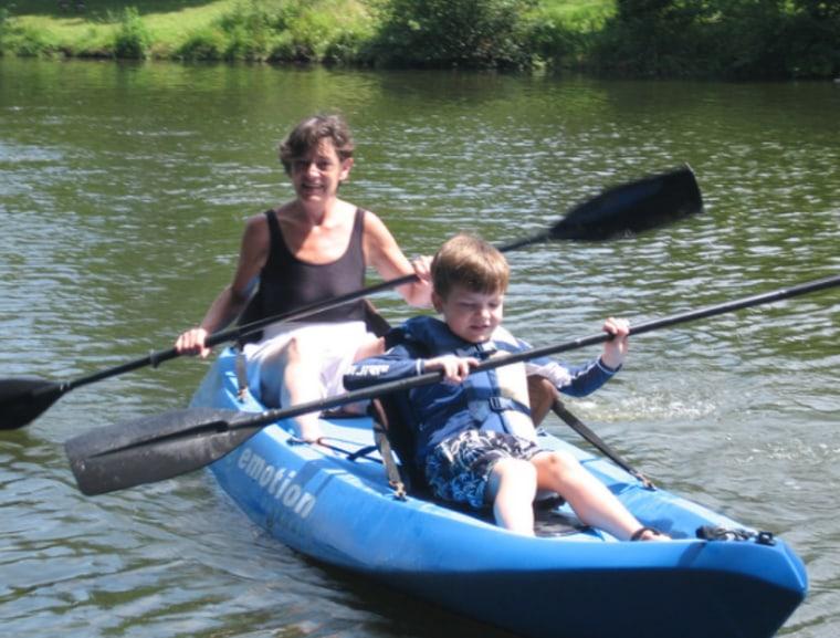 Barbara Longova with her grandson, Gavin.