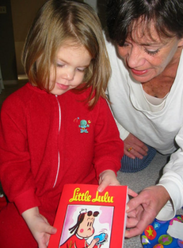 An avid reader, Longova would gift her grandchildren with books each Christmas.