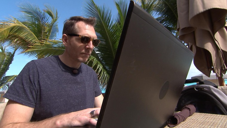 Cybersecurity expert Jim Stickley set up a fake Wi-Fi network to dramatize the dangers of being hacked on vacation.