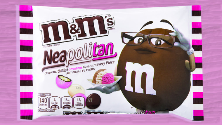 Neapolitan flavored M&M