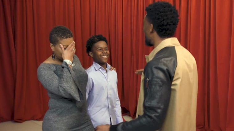 The star of Black Panther greeted some fans in a surprising, heartfelt way on Jimmy Fallon