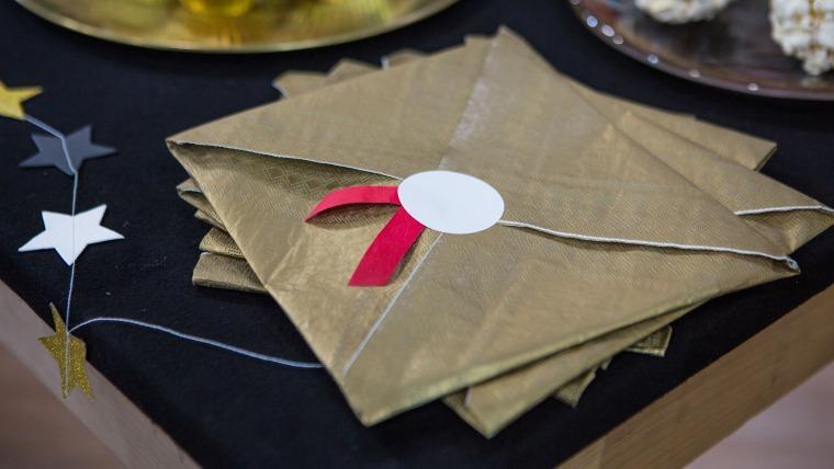 Oscar party Envelope Napkins