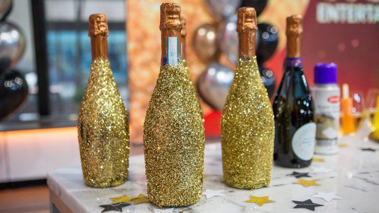 Oscar party Gold Champagne Bottles