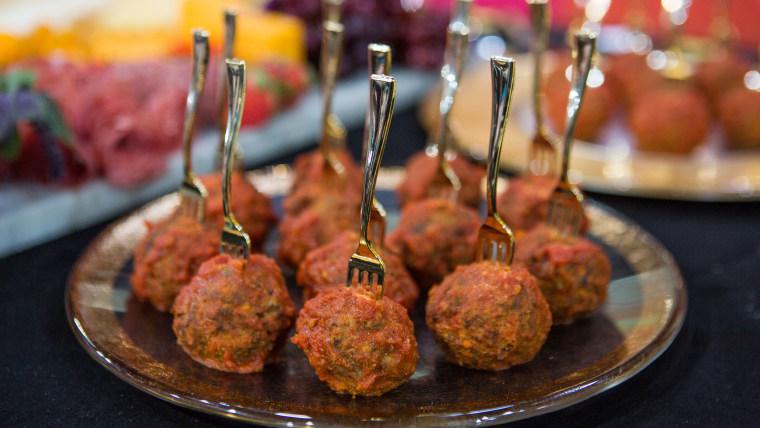 Oscar party Meatballs on a Fork