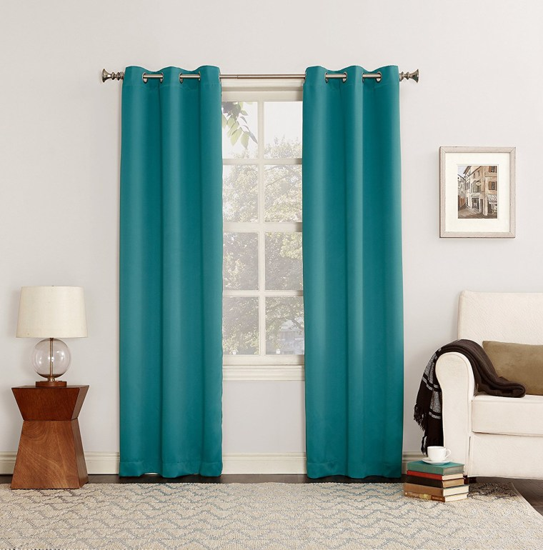Blackout curtains will block out all the pesky light shining in through your windows.