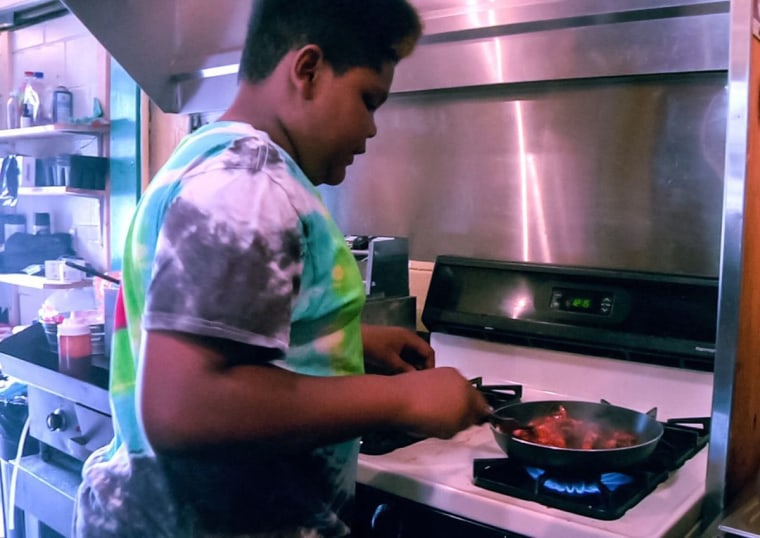 MasterChef Junior contestant Ben Watkins cooks at his family's former restaurant: Big Ben's Bodacious Barbecue.