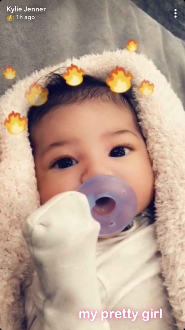 Kylie Jenner's baby, Stormi, makes social media debut