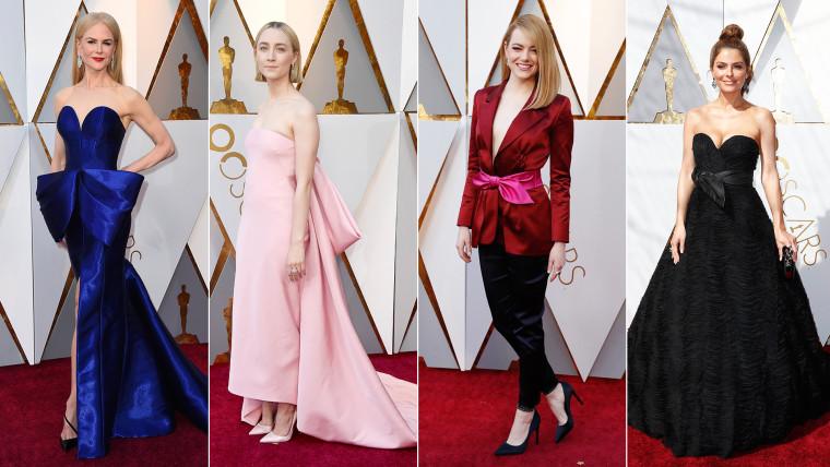 Bows: Nicole Kidman, Emma Stone, Maria Menounos, Saoirse Ronan