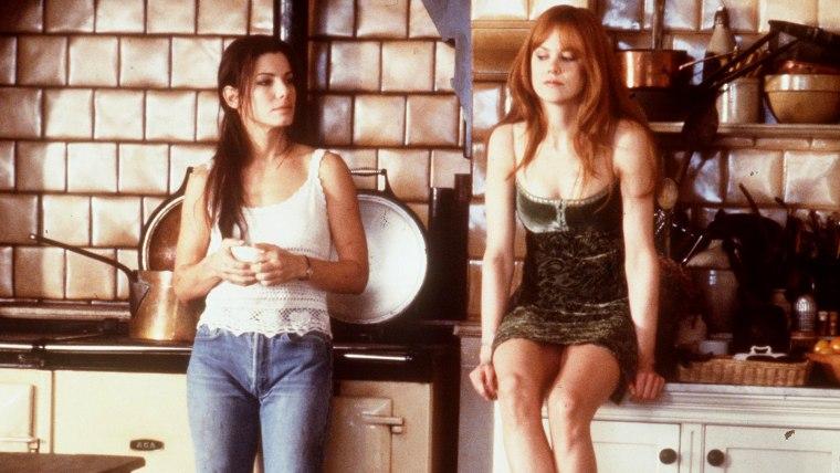 1998 Sandra Bullock and Nichole Kidman stars in the new movie 'Practical Magic.'