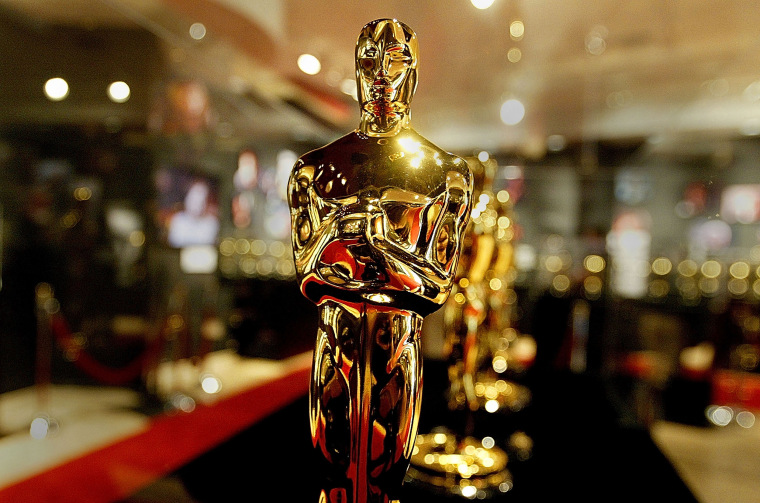 Imaghe: Oscar Statuettes For The 76th Academy Awards Displayed In Hollywood