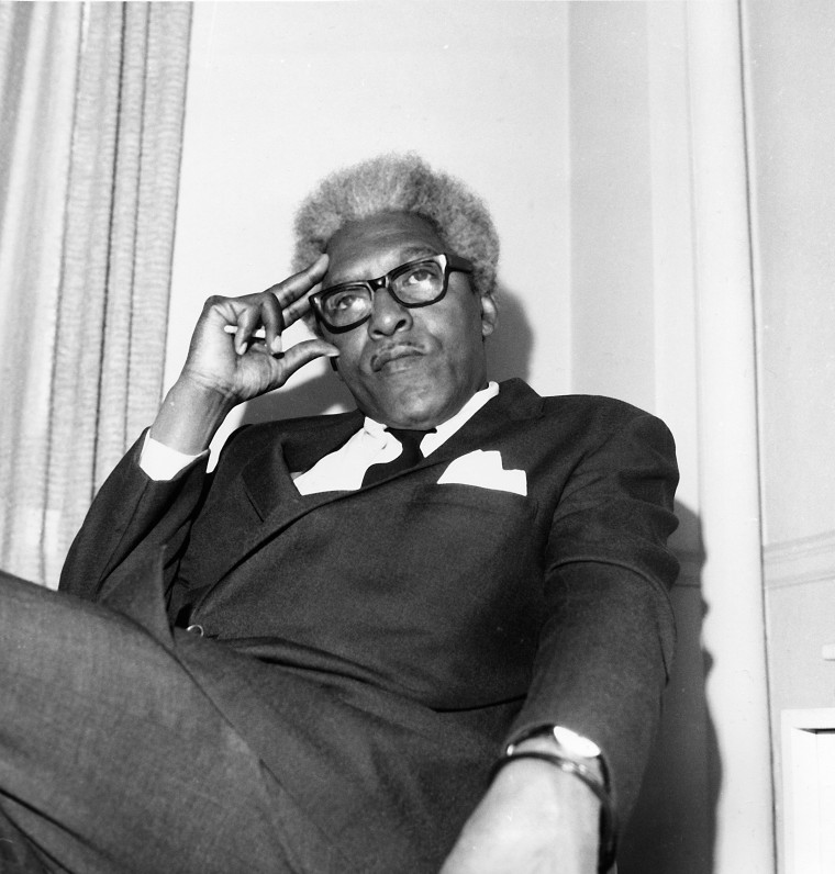 Image: Civil rights leader Bayard Rustin is shown in his Park Avenue South office in New York City, April 1969.