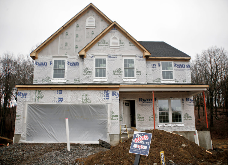 Image: Construction under way at a new housing plan in Zelienople, Pennsylvania