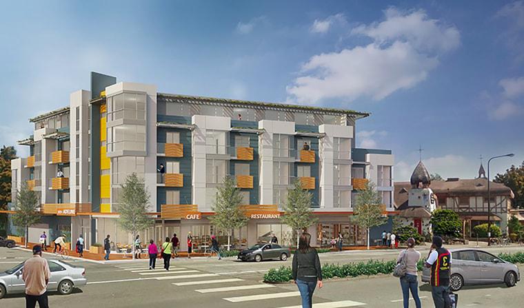 Image: Rendering of proposed multi-residential building at 3031 Adeline St. in Berkeley, CA