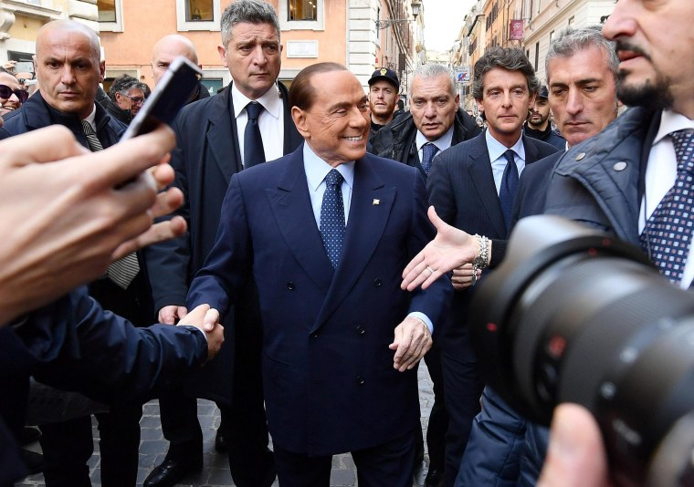 Image: Silvio Berlusconi's comeback is welcomed by many Italians.