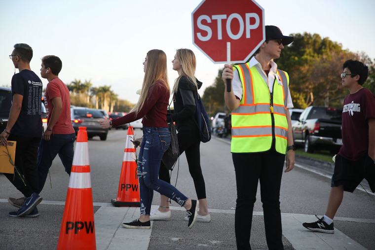 Image: Students Return To Class For First Time After Mass Shooting At Florida School