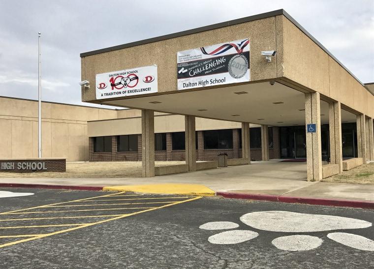 Image: The main entrance of Dalton High School