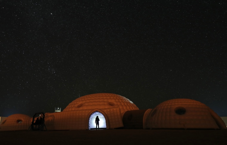 Image: TOPSHOT-OMAN-AUSTRIA-SCIENCE-SPACE