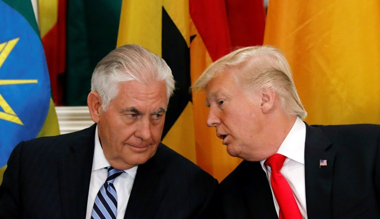 Image: President Donald Trump and Secretary of State Rex Tillerson