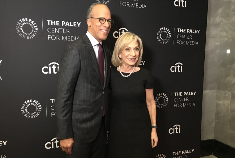 Image: Lester Holt and Andrea Mitchell