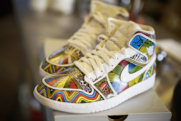 Image: Shoes customized by artist LaoLu.