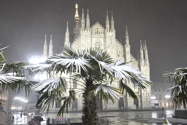 Image: Cold weather in Milan