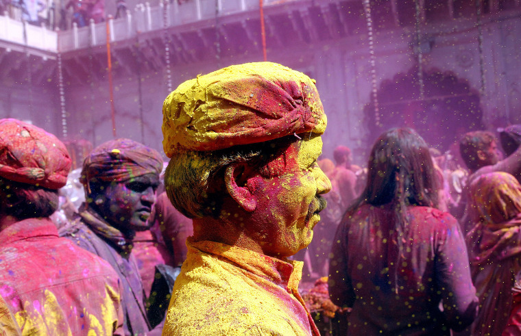 Image: Holi celebration in Vrindavan
