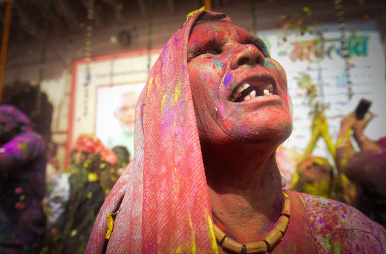 Image: TOPSHOT-INDIA-RELIGION-HINDUISM-HOLI