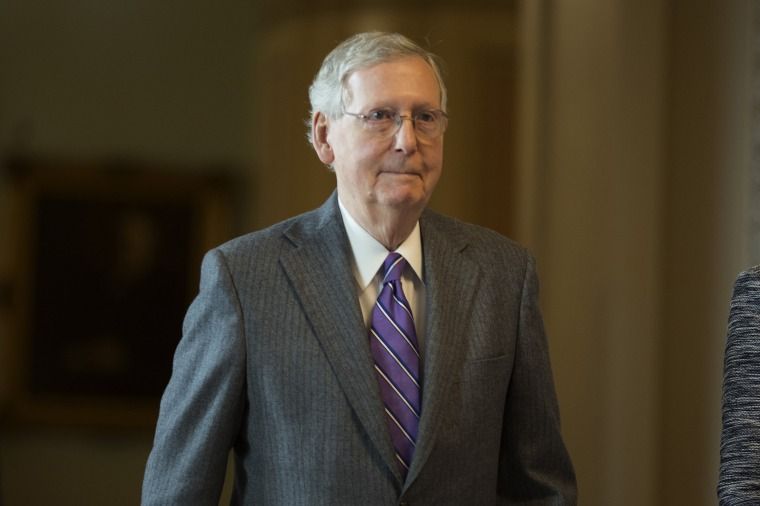Image: Senate majority leader Mitch McConnell