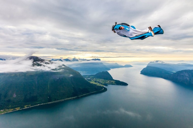 Zarda competes at the World Base Race in Åndalsnes, Norway.