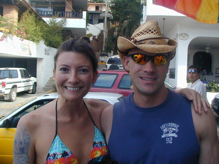 Melissa and Donald Zarda on vacation in Mexico.
