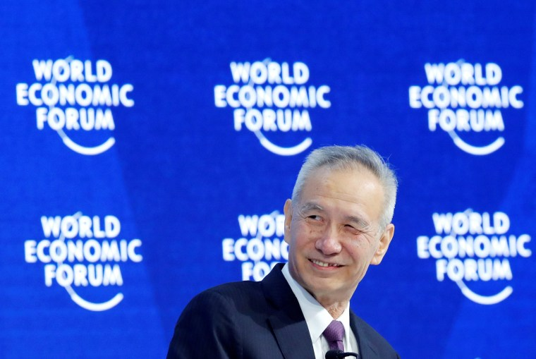 Image: FILE PHOTO: Liu He, Member of a Political Bureau of CPC Central Committee, attends the World Economic Forum (WEF) annual meeting in Davos