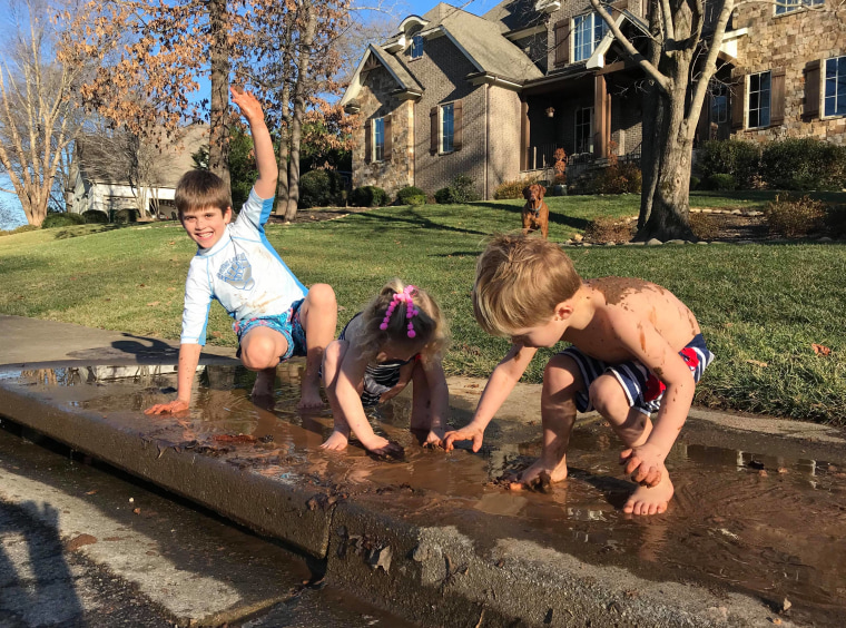 On the first day of daylight saving, Jacque Rogers Foster and her husband tire their kids out with lots of outdoor play.