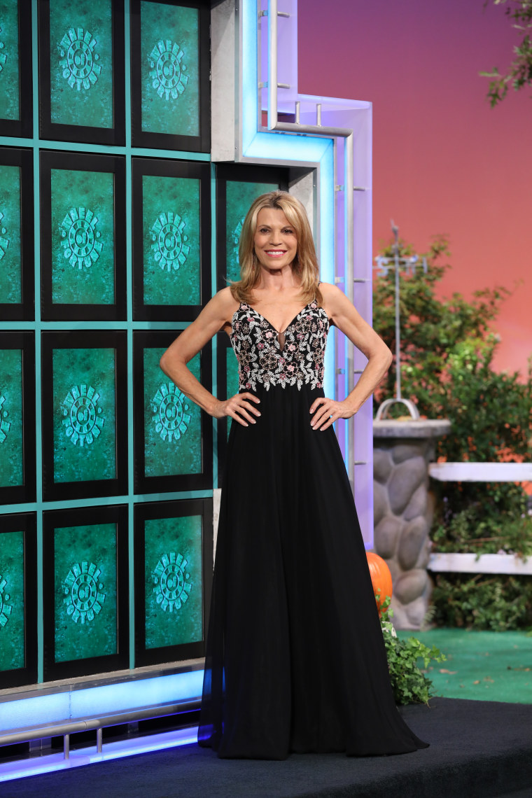 wheel of fortune host vanna white on style throughout