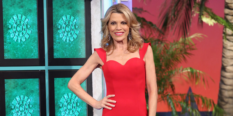 Lady in red! 'Wheel of Fortune' co-host Vanna White is partly known for her gorgeous gowns on the show.