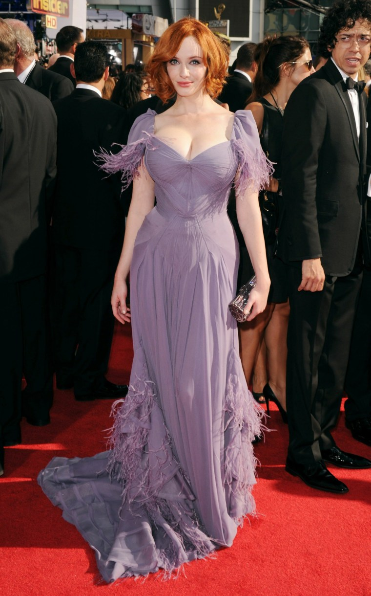 Christina Hendricks at the 2010 Emmys