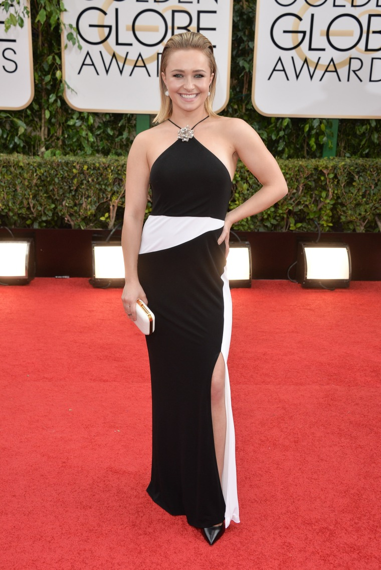 Hayden Panettiere at the 71st Annual Golden Globe Awards