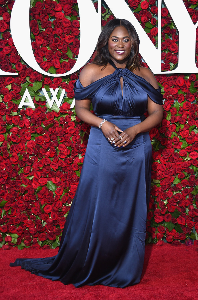 Danielle Brooks arrives at the 70th Annual Tony Awards