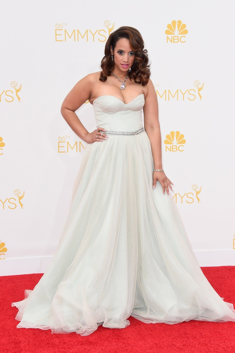 Dascha Polanco at the 2014 Emmy Awards