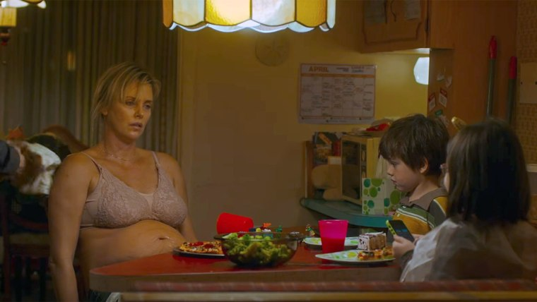 Charlize Theron plays a struggling mom in 'Tully'