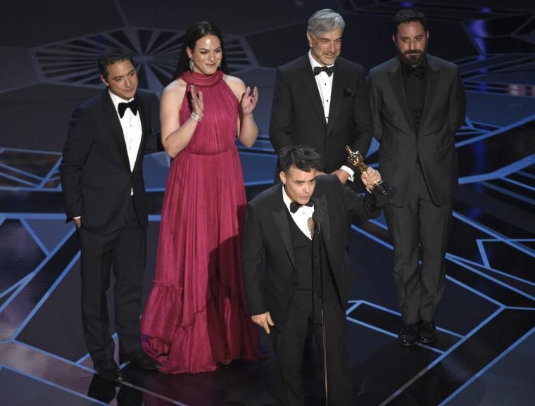 Image: Sebastian Lelio, Nicolas Saavedra, Daniela Vega, Alejandro Goic, Pablo Larrain