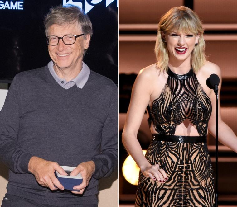 Image: Bill Gates and Taylor Swift