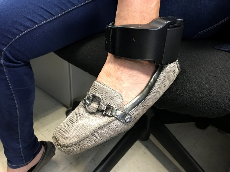 Miriam's electronic monitoring device, issued by ICE, must be worn 24/7.